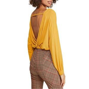 Free People Shimmy Shake Top Gold